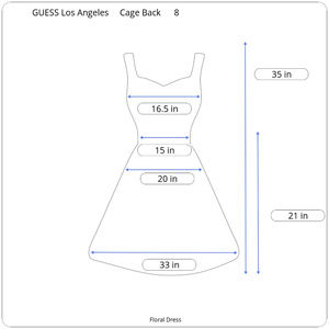 Guess Dresses - GUESS Los Angeles Cage Back Floral Dress FLAWED